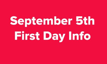 First Day Info