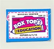 Box Tops & Labels for Education (Earn Volunteer time)